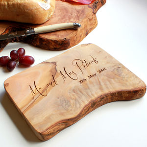 'Mr And Mrs' Cheese / Chopping Board - mr & mrs