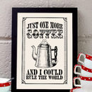 Vintage Style Kitchen Coffee Lover's Print
