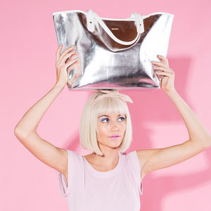 Metallic Tote Bag - beach bags