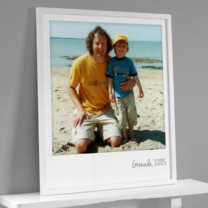 Personalised Giant Polaroid Style Photo Print - posters & prints