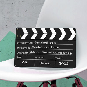 Personalised Hollywood Film Clapper Metal Sign Print - home accessories