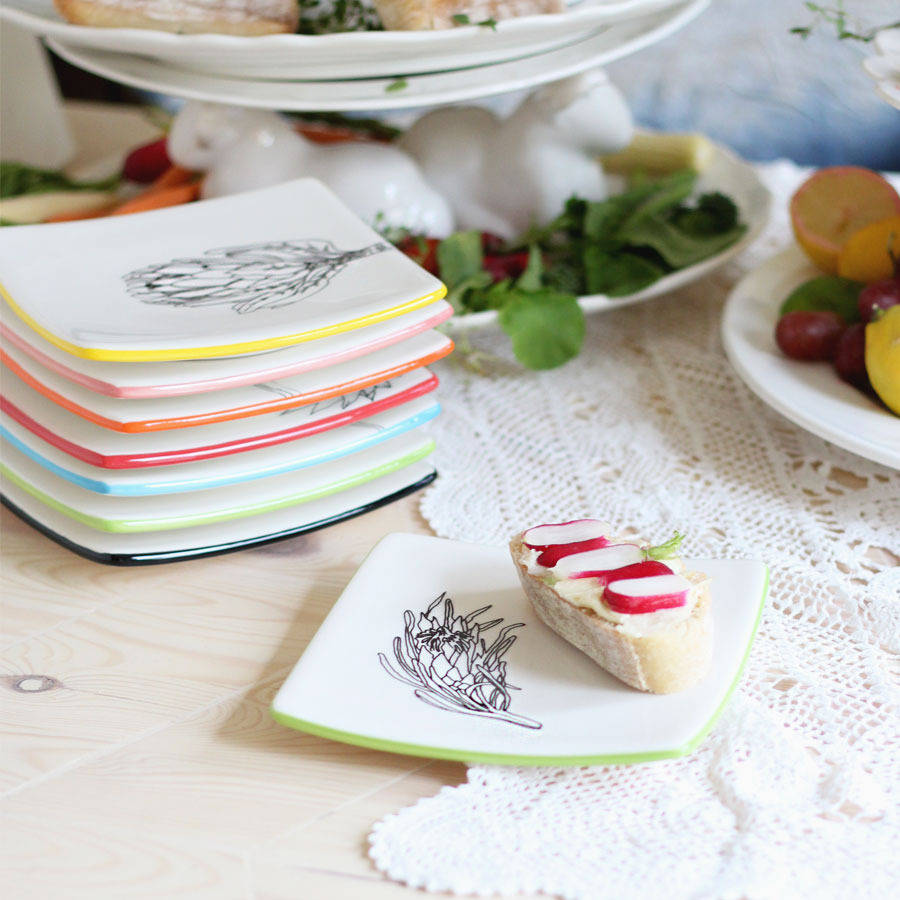 Illustrated Square Side Plates & illustrated square side plates by victoria u0026 abigail ...