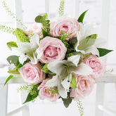 Rose And Lily Fresh Flowers Bouquet - garden