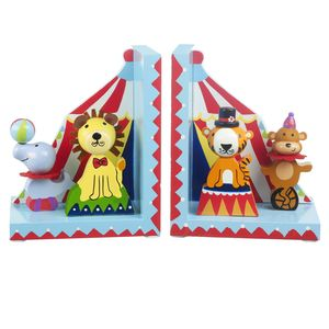 Wooden Vintage Circus Animal Bookends