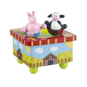 Wooden Farm Yard Music Box - traditional toys & games