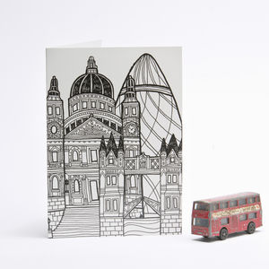Sightlines London Card Gherkin And St.Paul's - all purpose cards, postcards & notelets