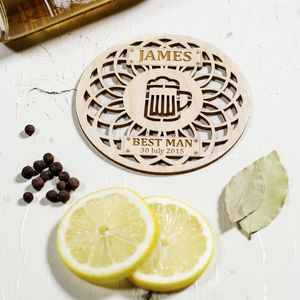 Personalised Best Man, Usher Coasters