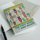 Personalised Novel Notebook Alphabet