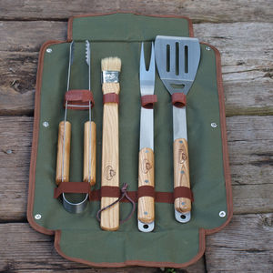 Personalised Bbq Tool Set - outdoor living
