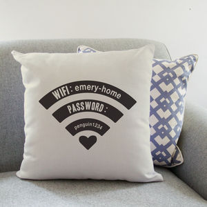 Personalised Wifi Cushion