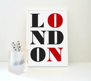 London Typography Travel Art Print