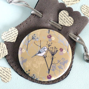 Cow Parsley Pocket Mirror