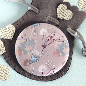 Toadstool Pocket Mirror - beauty accessories