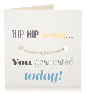 Bracelet 'Graduation' Gift And Card In One