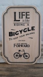Life Is Riding Like A Bicycle Sign