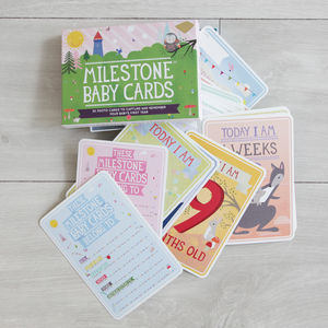 Milestone Baby Cards - new baby gifts
