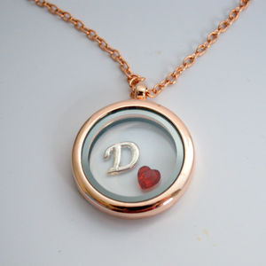 Personalised Birthstone Charms Rose Gold Memory Locket
