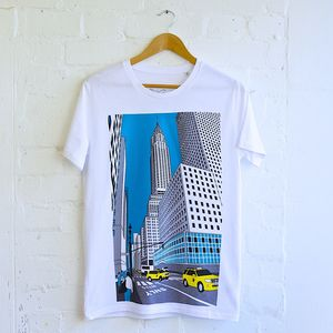 New York Chrysler Illustration T Shirt - travelling