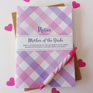 Mother Of The Bride Notebook - writing