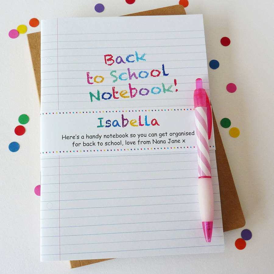 Back to school notebook by little cherub design for Back to school notebook decoration ideas