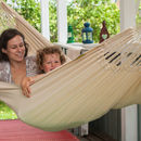 Knitted Cream Cotton Single Hammock