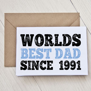 Personalised 'World's Best Dad' Father's Day Card