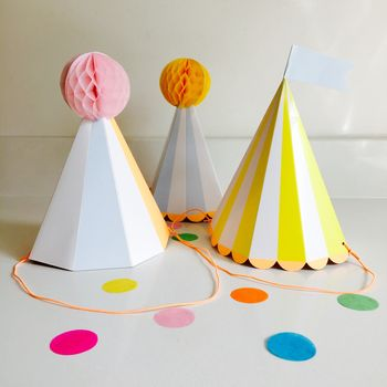 Silly Circus Party Hats Set Of Eight