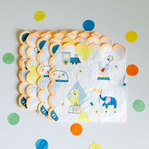 Silly Circus Party Napkin Set Of 20 - napkins