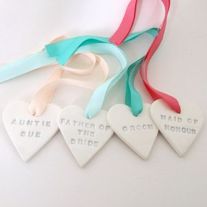 Personalised Ceramic Wedding Favour Heart