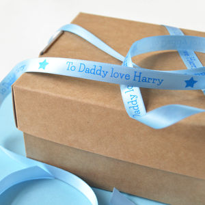 Father's Day 10mm Personalised Printed Ribbon