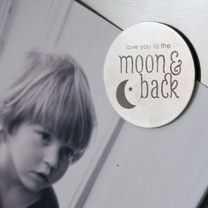 Love You To The Moon And Back Magnet - magnets
