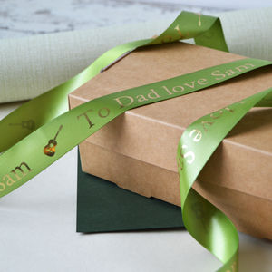 Father's Day 25mm Personalised Printed Ribbon - ribbon & wrap