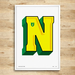 Norwich City Typography Posters, Limited Edition - new in prints & art