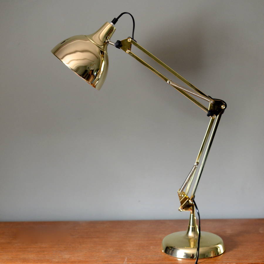 Gold Angled Desk Lamp By The Forest Co