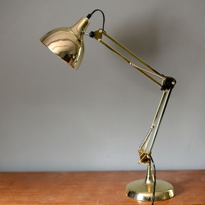 Gold Angled Desk Lamp - bedroom