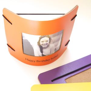 Personalised Contemporary Leather Photo Frame - picture frames