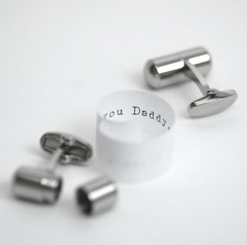 Father's Day Deluxe Secret Message Cufflinks