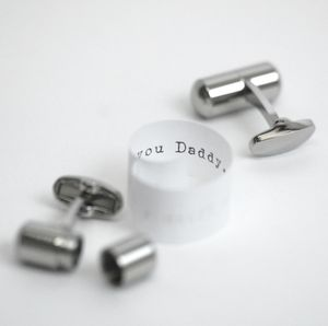Father's Day Deluxe Secret Message Cufflinks - cufflinks