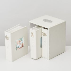 Personalised Early Memories Photo Album Set - christening gifts