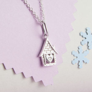Personalised My First Diamond 'Little House' Necklace