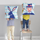 Reversible Rabbit Clown Cushion Cover