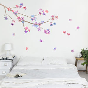 Blossom Branch Wall Sticker - prints & art sale