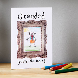 'Grandad You're The Best' Card - father's day cards