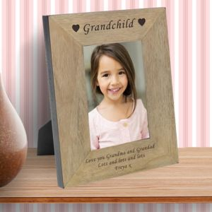 Grandchild Personalised Photograph Frame - baby's room