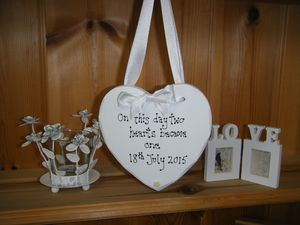 Wedding Sentiment Heart Personalised