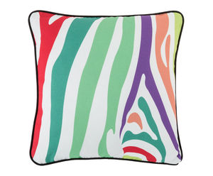 Colourful Zebra Skin Cushion Cover With Zip Closure