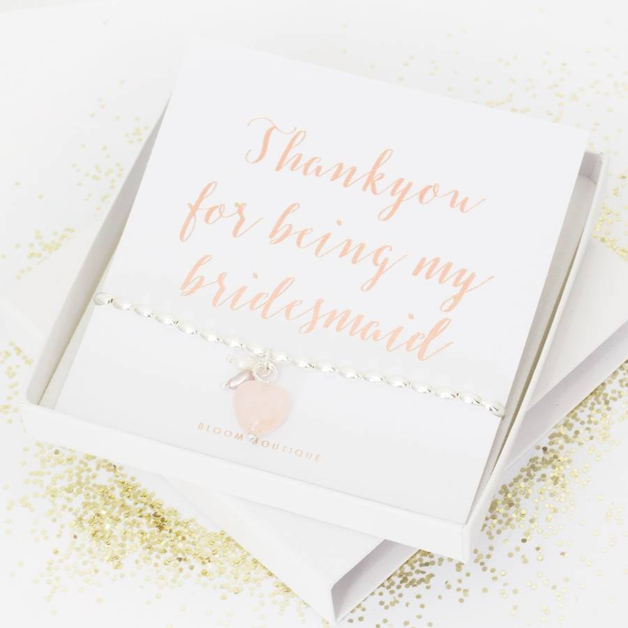 'Thank You For Being My Bridesmaid' Bracelet Gift