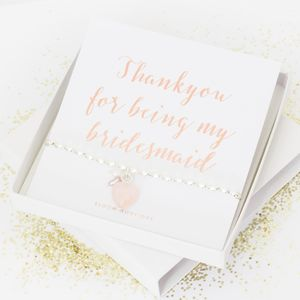 'Thankyou For Being My Bridesmaid' Bracelet Gift Set