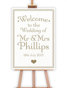Signature Wedding Sign - outdoor decorations