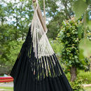 Knit Black Cotton Hanging Chair